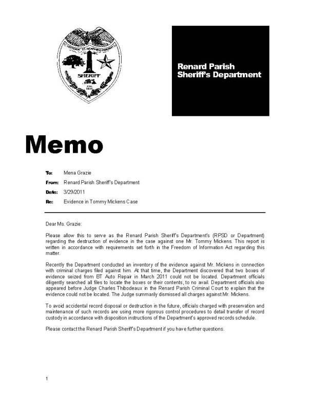 RPSD Evidence Memo