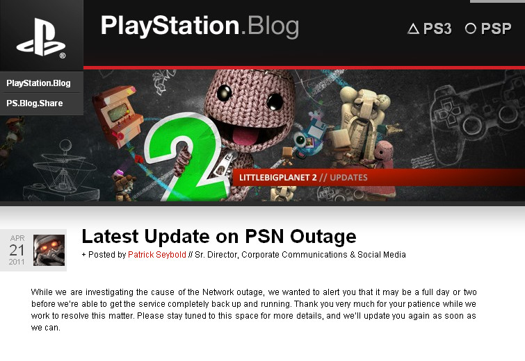 PlayStation Network Blog