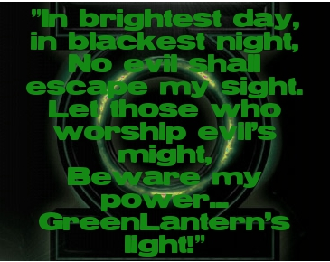 Green Lantern Oath and Logo