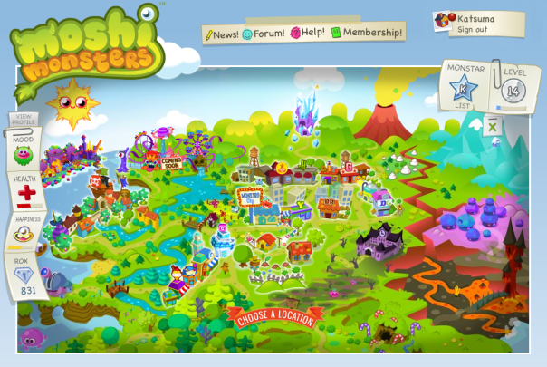 Moshi Monster Map